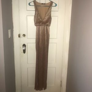 Boohoo rose gold dress. Only worn once!